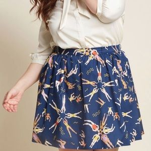 synchronized swimmers skirt - ModCloth 3X